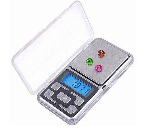 Mini Balança Digital Alta Precisão Bolso Portátil 500gr - Cb