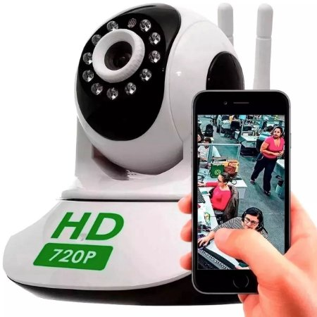 Baba Eletronica Camera Ptz Ip  720p Wireless Wifi Audio