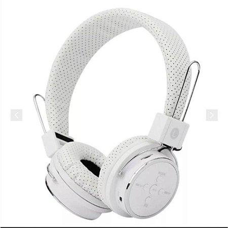 Fone Ouvido Headphone Sem Fio Bluetooth Cartão Sd Fm B-05 Branco