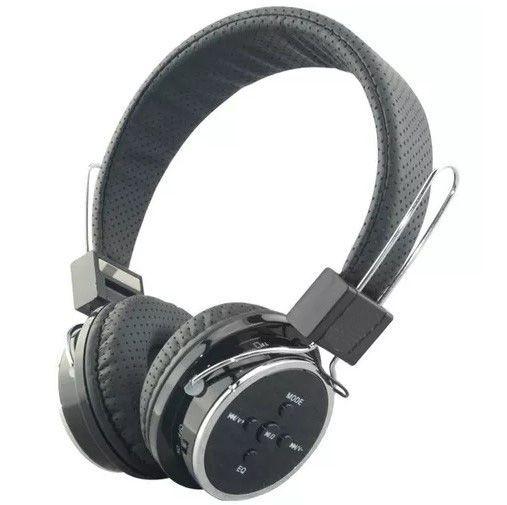 Fone Ouvido Headphone Sem Fio Bluetooth Cartão Sd Fm B-05 Cinza