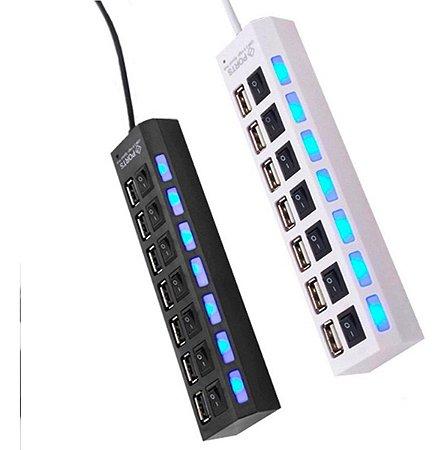 Hub Usb 2.0 480mbps 7 Portas Splitter Super Rapido