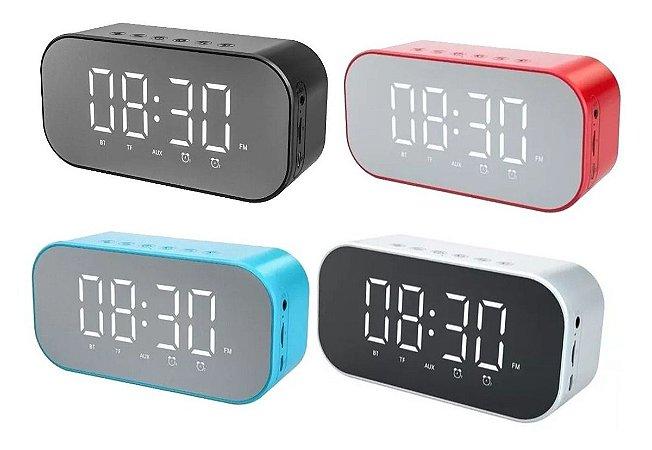 Radio Relógio Bluetooth Cartão Memoria Radio Fm Temperatura