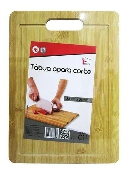 Tábua De Carne Corte De Legumes P/ Cozinha Churrasco 33x24cm