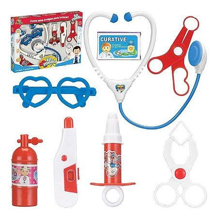 Kit Médico / Medica  Brinquedo Infantil 9 Peças