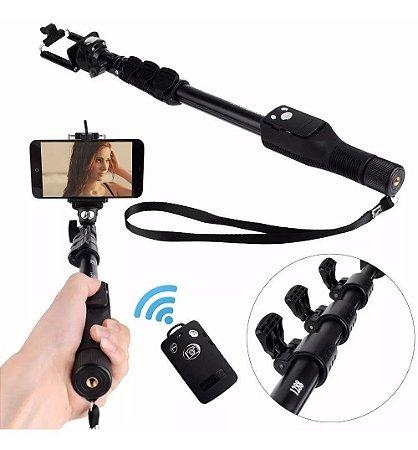 Bastão Pau Selfie 1,25 M Yt-1288 Monopod Controle Bluetooth