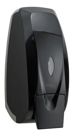 Suporte Dispenser Líquido Saboneteira Preta Abs 800m C/reser