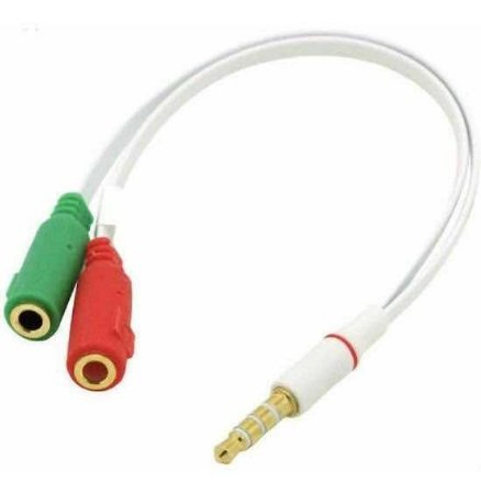 Cabo Adaptador P2 P/ Fone E Microfone Headset
