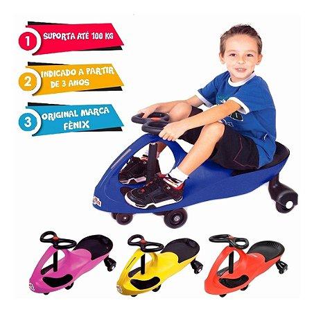 Brinquedo Gira Gira Car Azul Até Adulto 100 Kg Gx-t405 Fênix