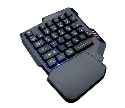 Teclado Gamer De Uma Mão 35 teclas Com Backlight Semi Mecanico M-1100