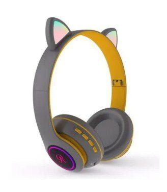 Fone Bluetooth Com Led CT66 Estilo Gato 7 Color