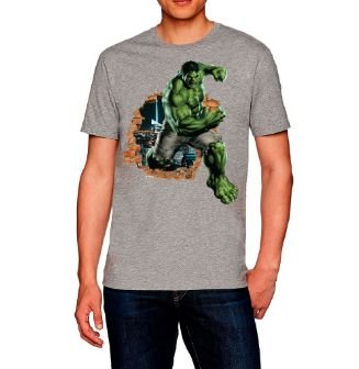 Camiseta camisa Casual HULK
