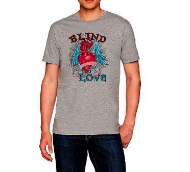 Camiseta camisa Casual T-shirt Blind love