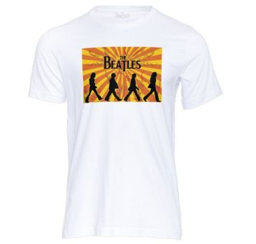 Camiseta masculina Feminina bandas de rock Os Beatles 100% algodão
