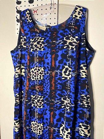 Vestido Estampado Azul Turquesa