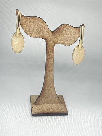 Brincos Médios Pêndulo Oval