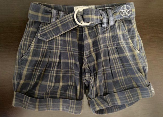 Shorts Xadrez Feminino Diesel