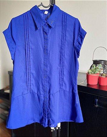 Camisa Manga Curta Bordada