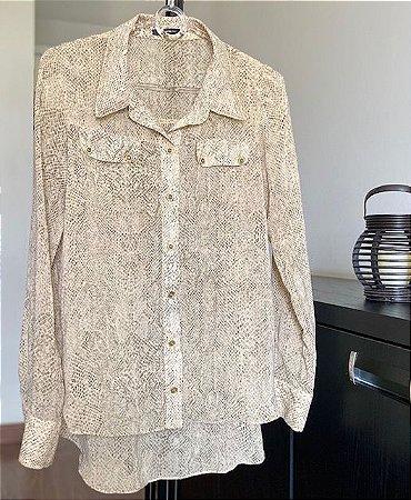 Camisa de Seda Animal Print