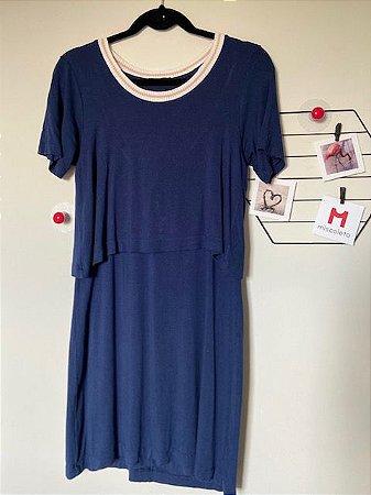 Vestido Sobreposto Azul Marinho