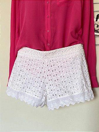 Shorts Renda Branco
