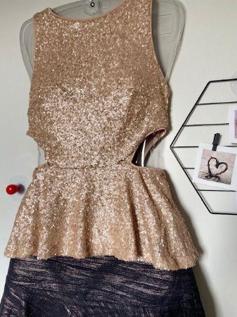 Blusa Mini Paetês Dourados