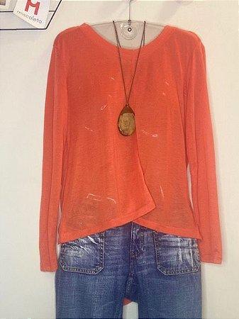 Blusa Transparente em malha Sparkle & Fade