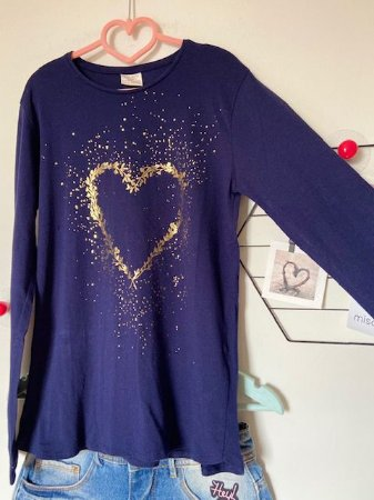 Camiseta Infantil Coração Zara