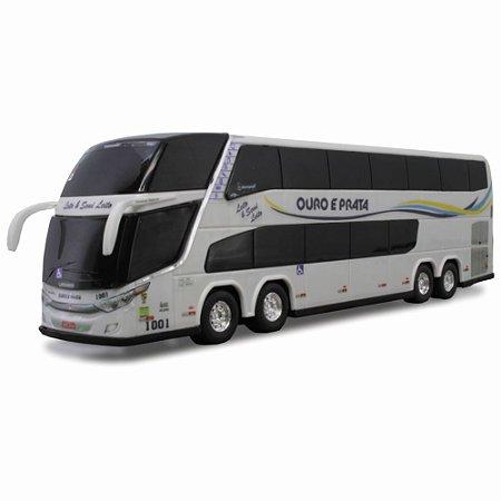 Ônibus em Miniatura Ouro e Prata 1800 DD G7