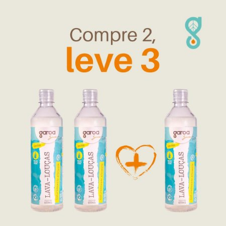 Compre 2 Leve 3 - Lava Louças Garoa Sense 600 ml