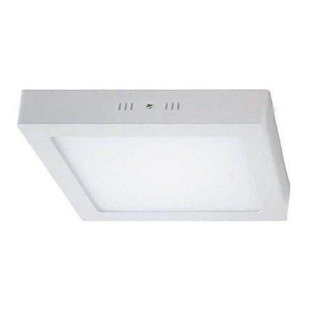 Luminária LED Sobrepor Quadrada 24w 6500k