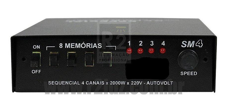 SEQUENCIAL 4 CANAIS FLUX MD2 BIVOLT CHAVEADO