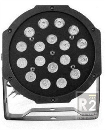 REFLETOR 18X1W LEDS RGB BIVOLT KLUB