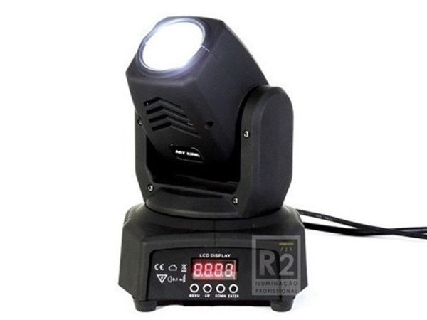 MINI MOVING HEAD BEAM 10W LED BIVOLT AWA