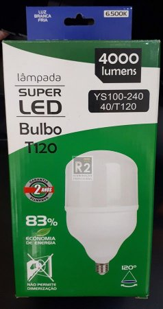 LÂMPADA BULBO T120 40W LED 6.500K BIVOLT SKYPIX