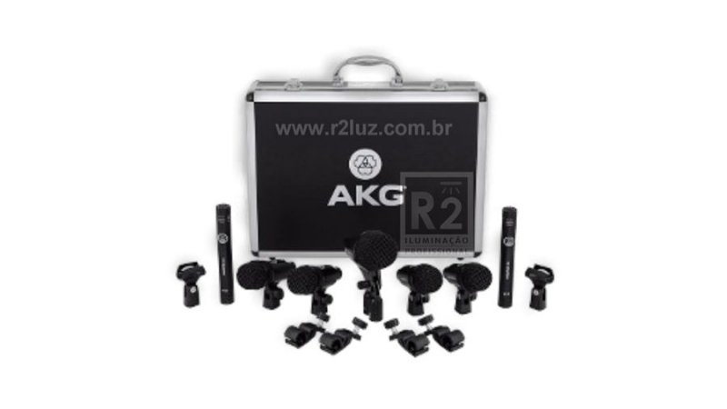 KIT MICROFONE AKG C/ 7 PÇS DRUM SET SESSION 1