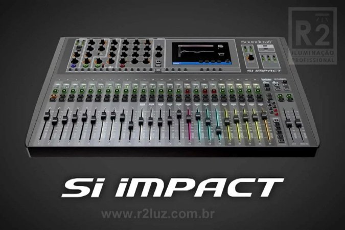 MESA DE SOM DIGITAL 32 CANAIS SI IMPACT SOUNDCRAFT