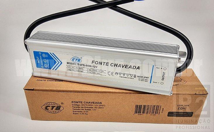 FONTE BLINDADA 5A 12V IP67 CTB
