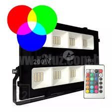 REFLETOR 200W IP66 RGB C/ CONTROLE PRISMA