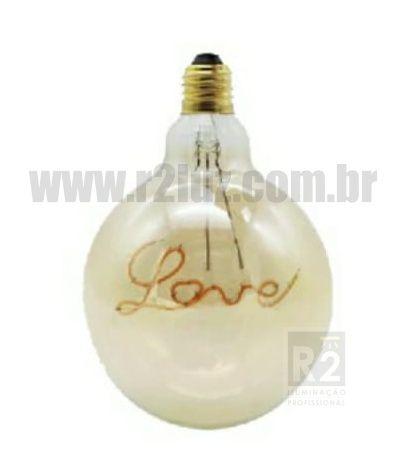 Lampada Filamento Led 3w G125 Bq Love