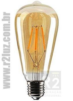 Lampada Filamento Led 4w St64 Ctb