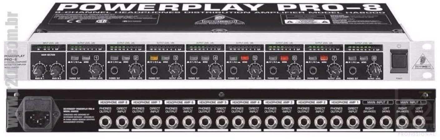 POWERPLAY AMP DE FONE HA8000 BEHRINGER
