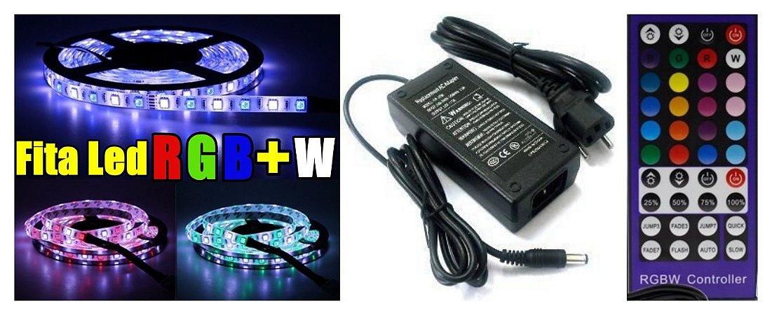 Kit 5mts Fita Led RGBW Ip65 12v