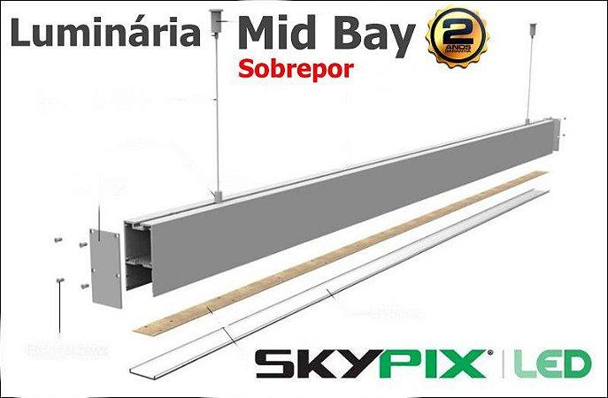 Luminaria Mid Bay Sobrepor 32w 6000k Skypix