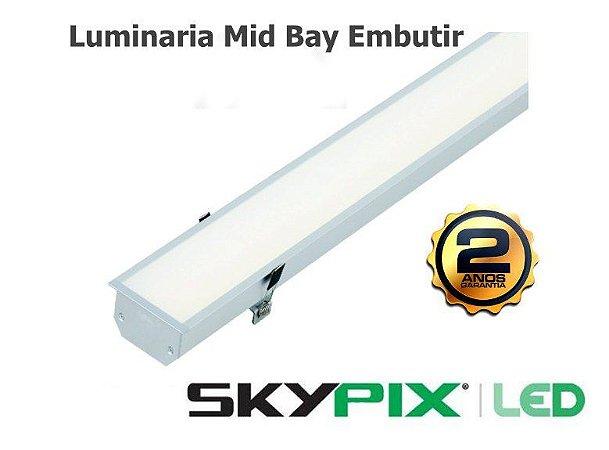 Luminaria Mid Bay Embutir 32w 6000k Skypix