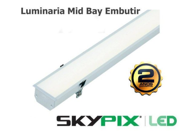 Luminaria Mid Bay Embutir 32w 4000k Skypix