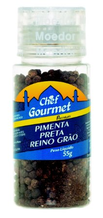 TEMPERO PIMENTA PRETA REINO GRAO 55G CHEF GOURMET