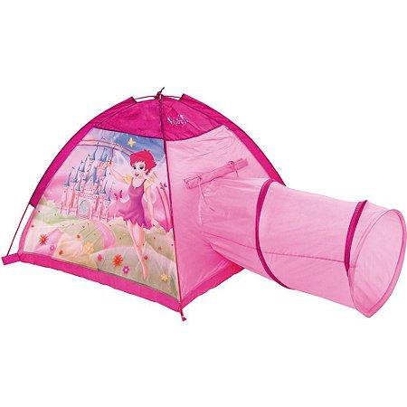 Barraquinha Infantil Rosa Estampa Fadinha c/Túnel MOR