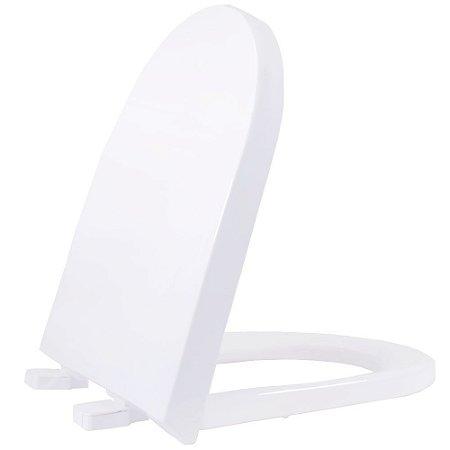 Assento Sanitário Plástico Carrara Soft Close Branco - DCNPPEV17SC