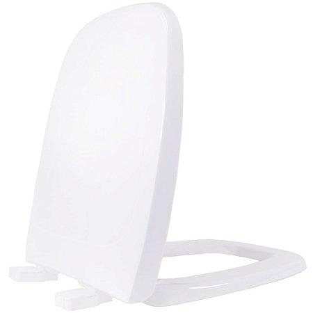 Assento Sanitário Plástico City PP Soft Close Branco - ACAE00S