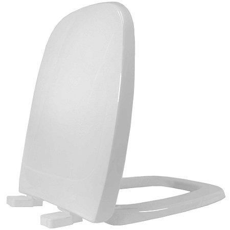 Assento Sanitário Plástico City PP Soft Close Cinza - ACAE77S
